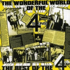 "4-Skins - The Wonderful World Of...The Best Of The 4-Skins 12"" LP (red vinyl)"