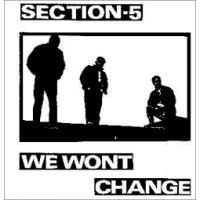 "Section 5 - We Wont Change 12"" LP"