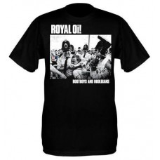 Royal Oi! - Bootboys & Hooligans T Shirt (black)
