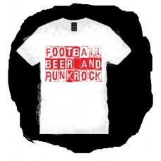 FOOTBALL BEER AND PUNK ROCK T SHIRT