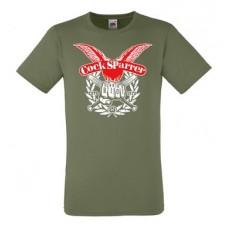 Cock Sparrer - Runnin` Riot Olive T Shirt (new)