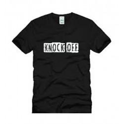 KNOCK OFF LOGO BLACK T SHIRT