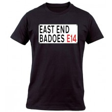 EAST END BADOES E14 BLACK T SHIRT
