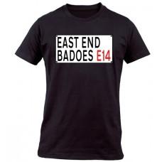 EAST END BADOES E14 BLACK T SHIRT