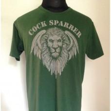 Cock Sparrer - Lion T Shirt (olive green)