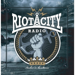 Riot City Radio - Anchor In The Storm (LP) 4 Track EP in Dark Blue Marbled Vinyl