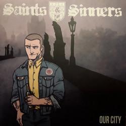"""Saints & Sinners - Our City 7"""" EP Tricolour or Black Vinyl"""