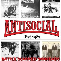 "Antisocial - Battle Scarred Skinheads 12"" LP"