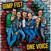 "Gimp Fist / One Voice split 7"" EP Blue/White/Black vinyl available...4/4/20"