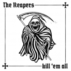 """The Reapers - Kill `Em All 12"""" LP Clear vinyl with black and white splatter"""