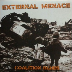 """External Menace - Coalition Blues 12"""" LP Gatefold cover (Orange vinyl)"""