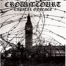 "Crown Court - Capital Offence 12"" LP Clear/black and white splatter"