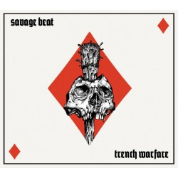 """Savage Beat - Trench Warfare 12"""" Clear vinyl with black and red splatter"""