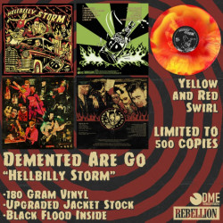 """Demented Are Go - Hellbilly Storm 12"""" red/yellow swirl (Deluxe 2021 re-press / high gloss sleeve 180gr)"""